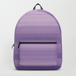 Pastel Ultra Violet Gradient Stripes Trendy Color of the year 2018 Backpack