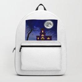 Cartoon Haunted House Backpack