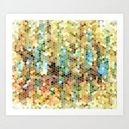 Abstract 22 Mosaic Art Print
