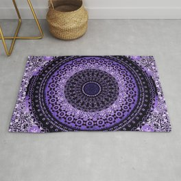 Purple Tapestry Mandala Rug