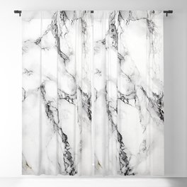 White Faux Marble Texture Blackout Curtain