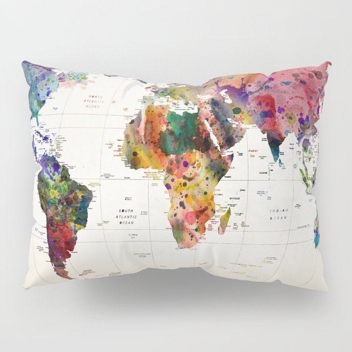 map Pillow Sham
