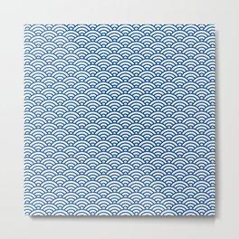 """Seigaiha"" Japanese traditional pattern Metal Print"