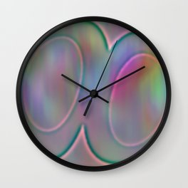 Shinning relief Wall Clock