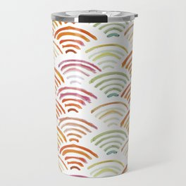Baesic Watercolor Wifi Swash Travel Mug