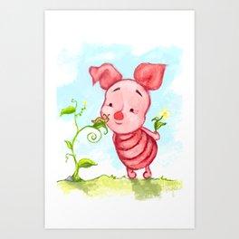Baby Piglet Art Print