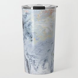 Rainbow Colors Metal Marble Pattern Pastel Travel Mug