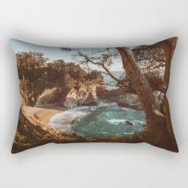 Big Sur Sunset at McWay Falls Rectangular Pillow