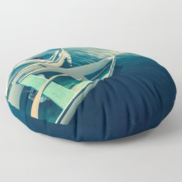On the Water - Boats Floor Pillow