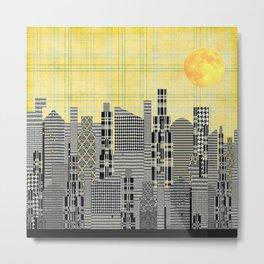 Plaid City Metal Print