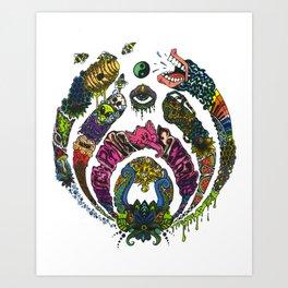 COLORDROP Art Print