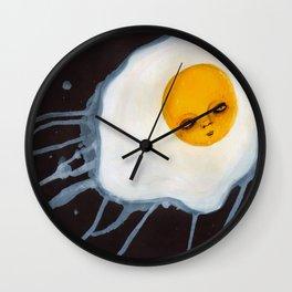 Egg Outsider Abstract Fantasy Art Wall Clock