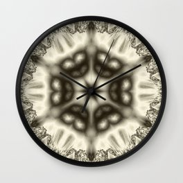 Sepia jewelled kaleidoscope splendor Wall Clock
