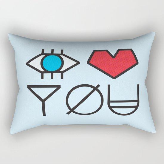 EYE HEART YOU Rectangular Pillow