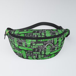 Gamer Lingo-Black and Green Fanny Pack