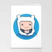 finn Stationery Cards featuring Finn by Shay Bromund
