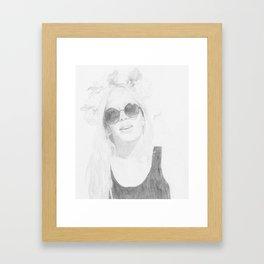 Flower Headband Framed Art Print
