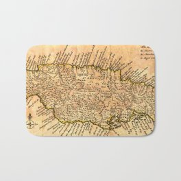 Vintage Map of Jamaica (1771) Bath Mat