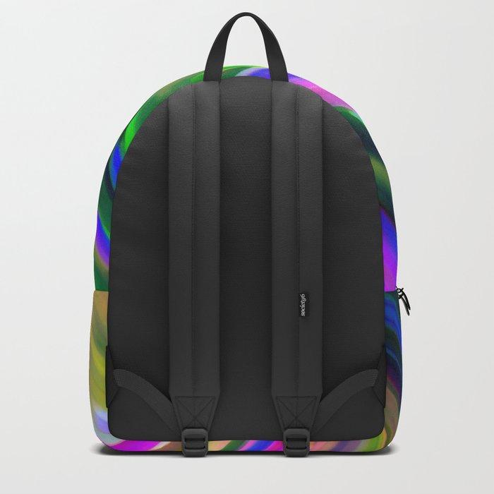 Colorful digital art splashing G487 Backpack