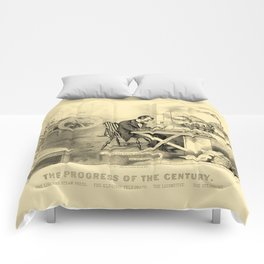 The Progress of the Century (Currier & Ives) Comforters