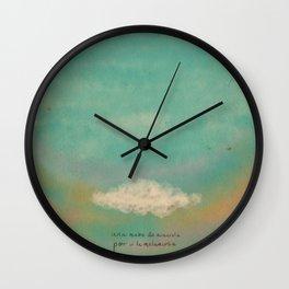 Nube para la melancolía Wall Clock