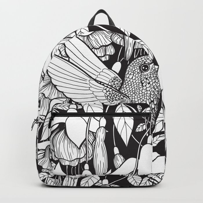 Hummingbird and fuchsia Backpack