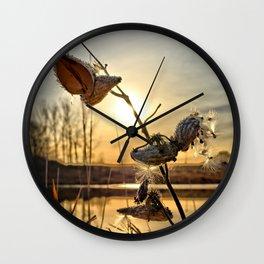 Milkweed Pond Wall Clock