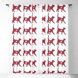 State of Arkansas Flag for Cat Lovers Blackout Curtain