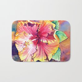 Tropical Hibiscus 13 Bath Mat