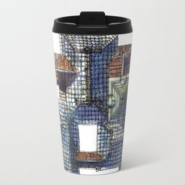 Taiwanese roofscapes 01(colored) Travel Mug
