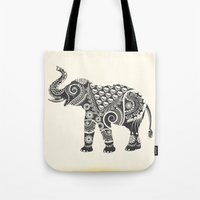 ornate elephant Tote Bags featuring Elephant by famenxt