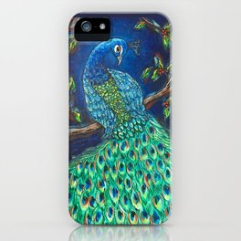 Peacock at Night iPhone Case