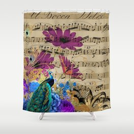 Feather Peacock 19 Shower Curtain