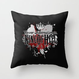 King of Hell Throw Pillow