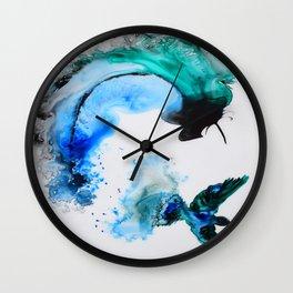 Humming Bird with a Splash Wall Clock