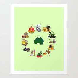 Snacks of Life: Australia Art Print