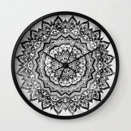 BLACK JEWEL MANDALA Wall Clock