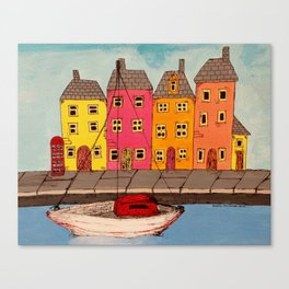 By the Canal  Canvas Print