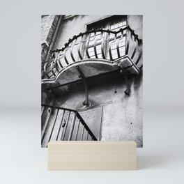 Castel Sant' Angelo   Balcony and window   Rome   Black & White   Travel Photography   Photo Print   Art Print Mini Art Print