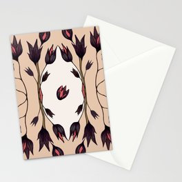 Black Tulips Stationery Cards