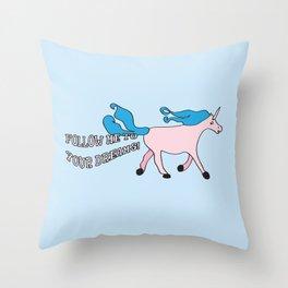 Follow Me To Your Dreams Throw Pillow