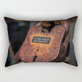 Rusty Lock Rectangular Pillow