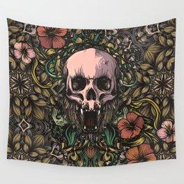 Skull in jungle Wall Tapestry