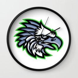 American Harpy Eagle Mascot Wall Clock