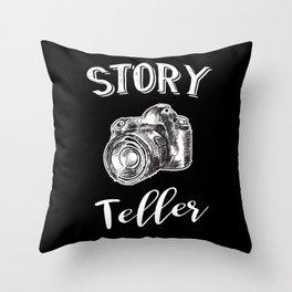 Storyteller Photographer Throw Pillow