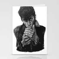 arctic monkeys Stationery Cards featuring ARCTIC ALEX by Aoife Rooney Art