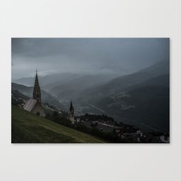 Storming Mountains Canvas Print