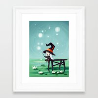 bubbles Framed Art Prints featuring Bubbles by Freeminds