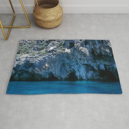 NATURE'S WONDER #4 - BLUE GROTTO #art #society6 Rug