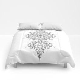 Mendi Mandala Madness  Comforters